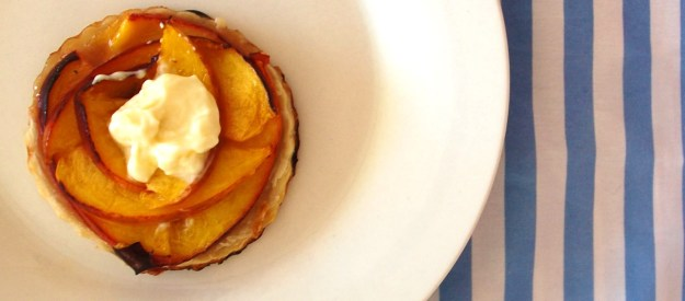 recipe: rose and peach tart